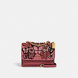 COACH 1425 - KLARE CROSSBODY WITH BUTTERFLY APPLIQUE IM/ROSE MULTI