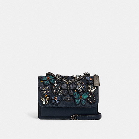 COACH KLARE CROSSBODY WITH BUTTERFLY APPLIQUE - QB/MIDNIGHT - 1425