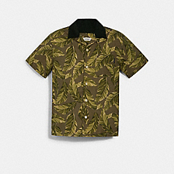COACH 1435 - CAMP SHIRT GREEN MULTI
