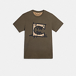 COACH 1437 - T-SHIRT WITH REXY BY GUANG YU MOSS