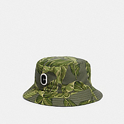 COACH 1442 - PRINTED BUCKET HAT GREEN MULTI