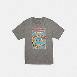 COACH 1449 - COACH │ MARVEL CAPTAIN AMERICA COMIC T-SHIRT HEATHER GREY