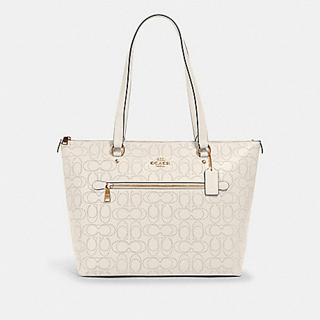 COACH 1499 GALLERY TOTE IN SIGNATURE LEATHER IM/CHALK