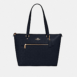 GALLERY TOTE IN SIGNATURE LEATHER - 1499 - IM/MIDNIGHT