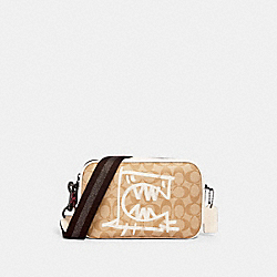 COACH 1505 - VALE JES CROSSBODY IN SIGNATURE CANVAS WITH REXY BY GUANG YU QB/LIGHT KHAKI/CHALK MULTI