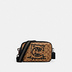 COACH 1505 - VALE JES CROSSBODY IN SIGNATURE CANVAS WITH REXY BY GUANG YU QB/KHAKI BLACK MULTI