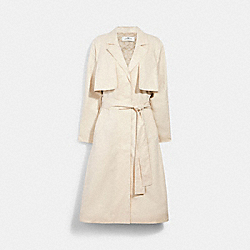 LIGHT DRAPEY TRENCH WITH SIGNATURE LINING - 1523 - PORCELAIN