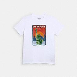 COACH 1537 - COACH NEW YORK T-SHIRT WHITE