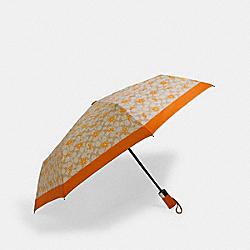 COACH 1562 Umbrella In Orange Signature Print SV/LIGHT KHAKI