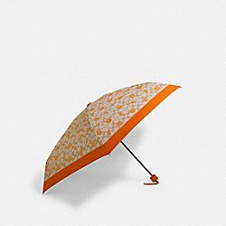 COACH 1563 Mini Umbrella In Orange Signature Print SV/LIGHT KHAKI