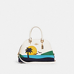 KATY SATCHEL WITH SUNSET MOTIF - 1581 - IM/CHALK MULTI