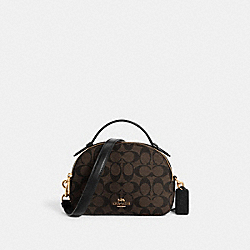 COACH 1591 - SERENA SATCHEL IN SIGNATURE CANVAS IM/BROWN BLACK
