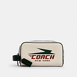 COACH 1599 - SMALL TRAVEL KIT WITH VINTAGE COACH PRINT QB/CHALK MULTI
