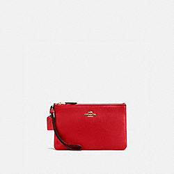 COACH 16111B Boxed Small Wristlet GD/ELECTRIC RED
