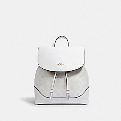 COACH 1613 - ELLE BACKPACK IN SIGNATURE CANVAS IM/CHALK/GLACIERWHITE