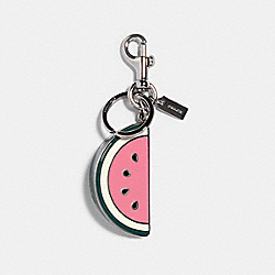 COACH 1628 Watermelon Slice Bag Charm SV/PINK LEMONADE
