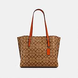 MOLLIE TOTE IN SIGNATURE CANVAS - 1665 - IM/KHAKI SEDONA