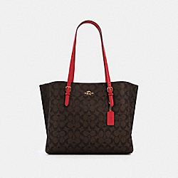 COACH 1665 - MOLLIE TOTE IN SIGNATURE CANVAS IM/BROWN 1941 RED