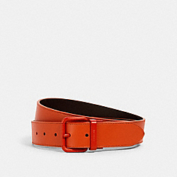 ROLLER BUCKLE CUT-TO-SIZE REVERSIBLE BELT, 38MM - 1667 - QB/SPICE ORANGE