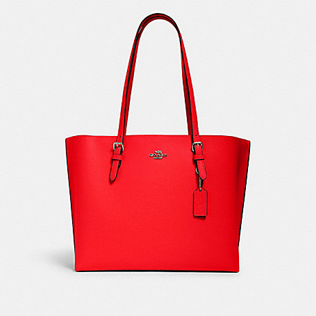 COACH 1671 MOLLIE TOTE QB/MIAMI RED/ OXBLOOD