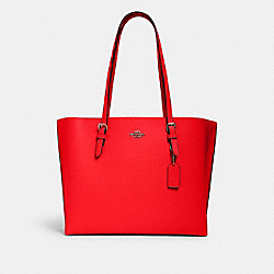 COACH 1671 - MOLLIE TOTE QB/MIAMI RED/ OXBLOOD