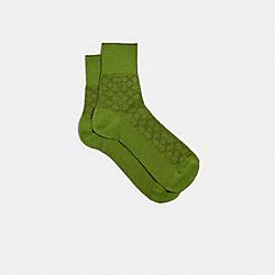 COACH 170 - SIGNATURE COLOR SOCKS GREEN