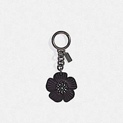 COACH 17449 - TEA ROSE BAG CHARM BLACK/BLACK