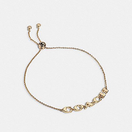 COACH 1747 COACH SLIDER BRACELET GOLD
