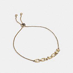 COACH 1747 - COACH SLIDER BRACELET GOLD