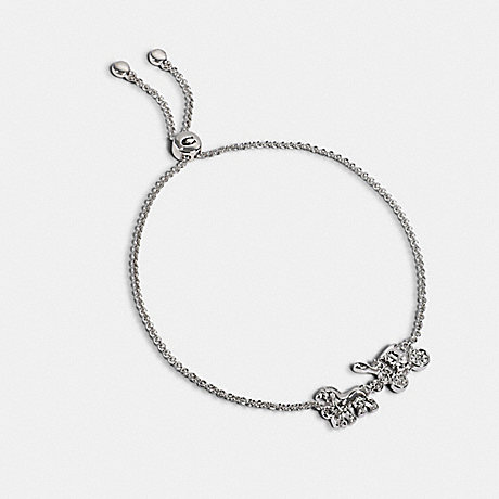 COACH HORSE AND CARRIAGE SLIDER BRACELET - SILVER - 1748