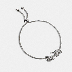 COACH 1748 Horse And Carriage Slider Bracelet SILVER