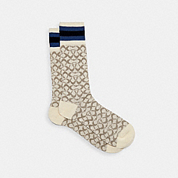 COACH 176 - SIGNATURE SOCKS CHALK MULTI