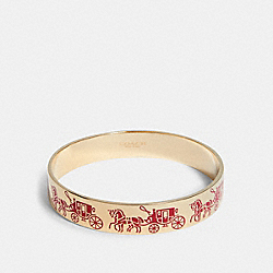 COACH 1790 - HORSE AND CARRIAGE BANGLE GD/ELECTRIC PINK
