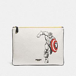 COACH 1827 Coach │ Marvel Large Pouch With Captain America QB/CHALK MULTI