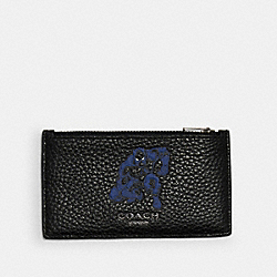 COACH 1848 Coach │ Marvel Zip Card Case With Signature Canvas Detail And Black Panther QB/BLACK MULTI