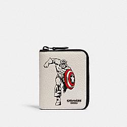 COACH 1859 Coach │ Marvel Medium Zip Around Wallet With Captain America QB/CHALK MULTI