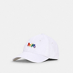 COACH 1874 - RAINBOW HORSE AND CARRIAGE CAP WHITE