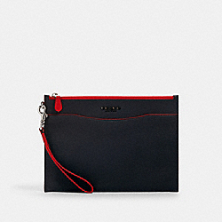 COACH 1890 - BECKETT SLIM POUCH SV/NAVY MIAMI RED