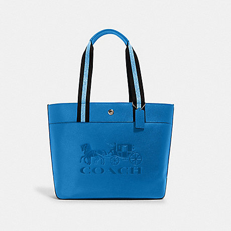 COACH 1896 JES TOTE WITH HORSE AND CARRIAGE SV/BLUE JAY