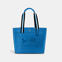 JES TOTE WITH HORSE AND CARRIAGE - 1896 - SV/BLUE JAY
