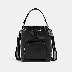 COACH 1898 Jes Drawstring Bucket Bag With Horse And Carriage IM/BLACK