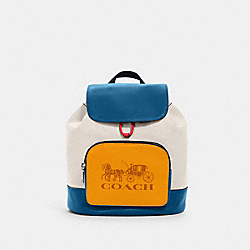 COACH 1900 - JES BACKPACK IN COLORBLOCK WITH HORSE AND CARRIAGE SV/CHALK MULTI