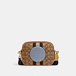 COACH 1912 Dempsey Camera Bag In Signature Jacquard With Stripe And Coach Patch IM/KHAKI/MIST MULTI