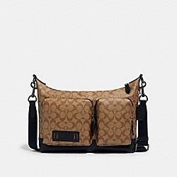 COACH 1951 - RANGER POCKET MESSENGER IN SIGNATURE CANVAS QB/TAN