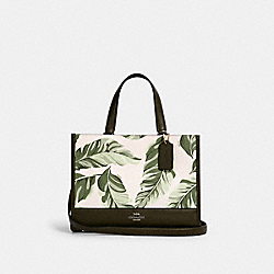 COACH 1952 Dempsey Carryall With Banana Leaves Print SV/CARGO GREEN CHALK MULTI