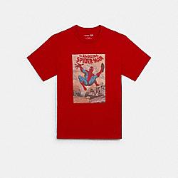 COACH │ MARVEL SPIDER-MAN COMIC T-SHIRT - 1956 - BARBADOS CHERRY