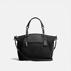 COACH 20166 - CHAIN PRAIRIE SATCHEL BLACK/DARK GUNMETAL