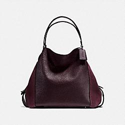 COACH 20334 Edie Shoulder Bag 42 DK/OXBLOOD