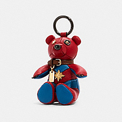 COACH 2045 - COACH │ MARVEL CAROL DANVERS COLLECTIBLE BEAR BAG CHARM IM/METALLIC NAVY