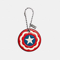 COACH 2048 Coach │ Marvel Captain America Shield Hangtag SV/MIDNIGHT NAVY/RED